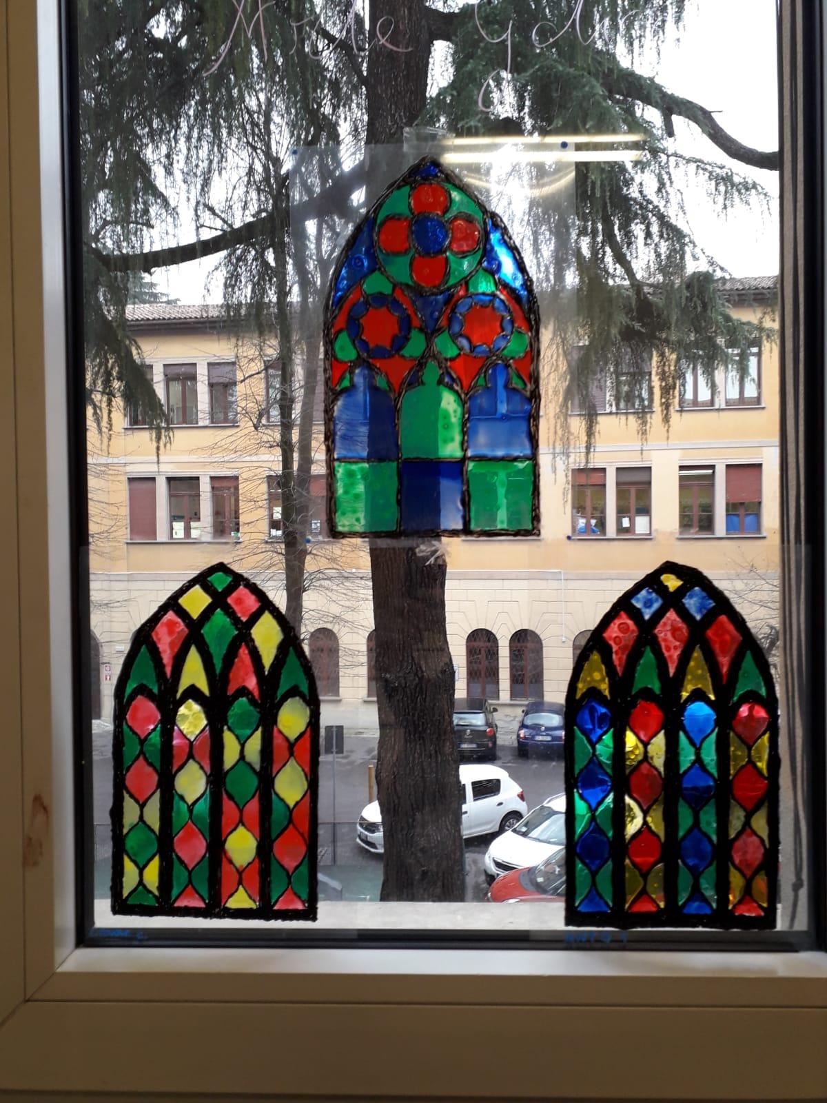 Pittura su acetato in stile gotico